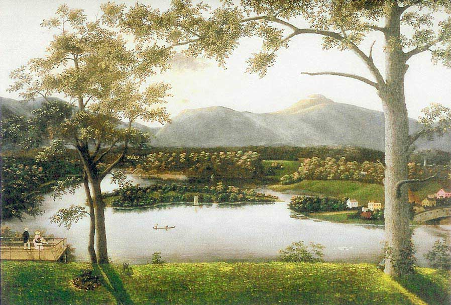 Charles Townsend Print - View from Barclay Heights